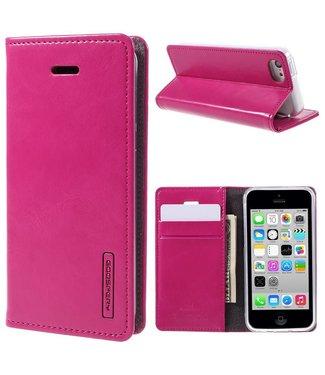 Goospery Goospery PU Leren Wallet iPhone 5c - Roze