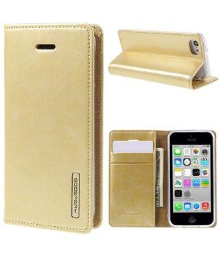 Goospery Goospery PU Leren Wallet iPhone 5c - Goud