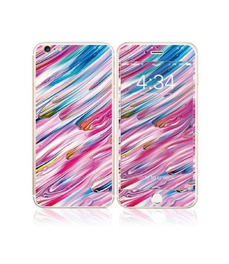 Fema Fema Gehard Glas Bescherming iPhone 6(s) plus - Verfstrepen
