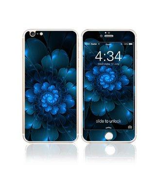Fema Gehard Glas Bescherming iPhone 6(s) plus - Blauwe Bloem