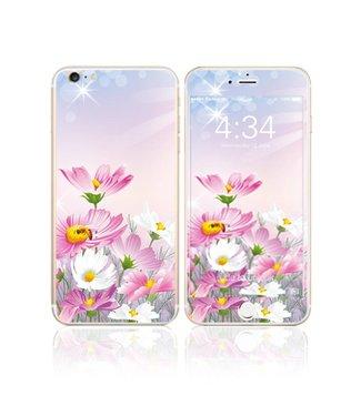 Fema Fema Gehard Glas Bescherming iPhone 6(s) plus - Roze Bloemen