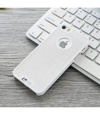 Loopee Loopee Geweven Hardcase iPhone 5(s)/SE (2016) - Wit