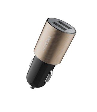 Rock Rock Autolader 5V > 2.1A Dubbel USB - Champagne