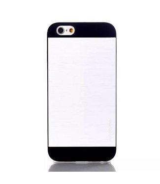 Motomo Aluminium/PC Geborstelde Hardcase iPhone 6(s) - Zilver