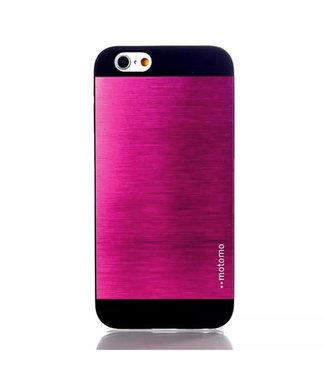 Motomo Aluminium/PC Geborstelde Hardcase iPhone 6(s) - Roze