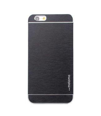 Motomo Aluminium Geborstelde Hardcase iPhone 6(s) plus - Zwart