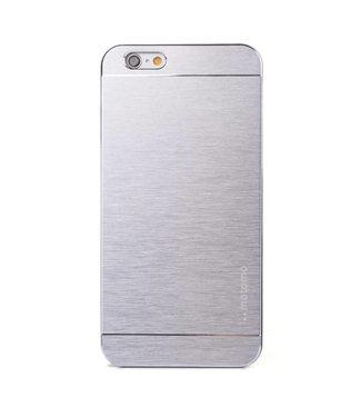 Motomo Aluminium Geborstelde Hardcase iPhone 6(s) plus - Zilver