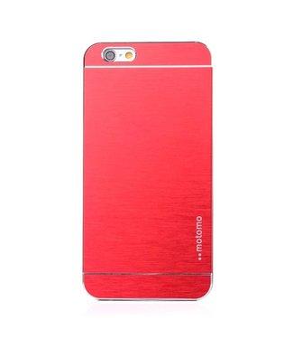 Motomo Motomo Aluminium Geborstelde Hardcase iPhone 6(s) plus - Rood