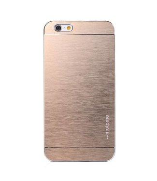 Motomo Motomo Aluminium Geborstelde Hardcase iPhone 6(s) plus - Goud