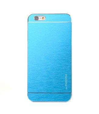Motomo Motomo Aluminium Geborstelde Hardcase iPhone 6(s) plus - Blauw