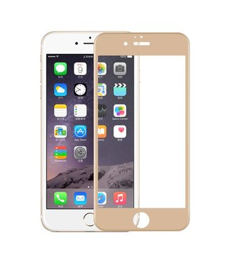 iPhone 6(s) 0,9mm Edge 2 Edge Glas Screenprotector - Goud