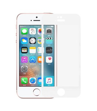 iPhone 5(s)/ 5c/ SE 0,3mm Edge 2 Edge Glas Screenprotector - Wit