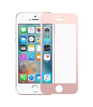 iPhone 5(s)/ 5c/ SE 0,3mm Edge 2 Edge Glas Screenprotector - Rosé Goud