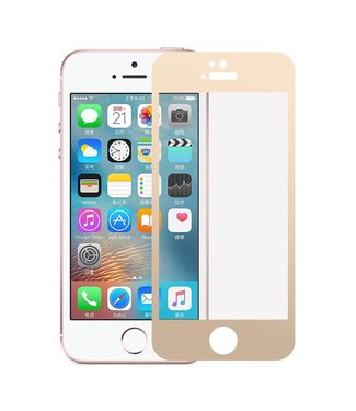 iPhone 5(s)/ 5c/ SE 0,3mm Edge 2 Edge Glas Screenprotector - Goud