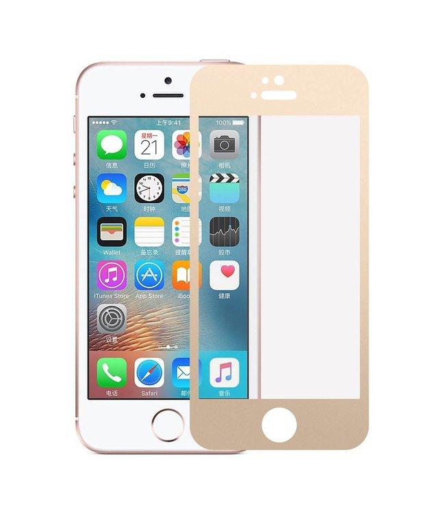 iPhone 5(s)/ 5c/ SE 0,3mm Edge 2 Edge Glas Screenprotector - Goud