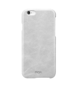 Mofi Mofi PU Leren Coating Hardcase iPhone 6(s) - Gebroken Wit