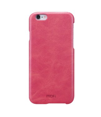Mofi Mofi PU Leren Coating Hardcase iPhone 6(s) - Roze