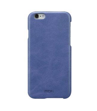 Mofi Mofi PU Leren Coating Hardcase iPhone 6(s) - Blauw