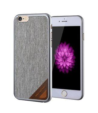 JLW JLW PU Leren Coating Hardcase iPhone 6(s) - Grijs