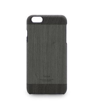 Kajsa Kajsa PU Leren Houten Hardcase iPhone 6(s) - Antraciet