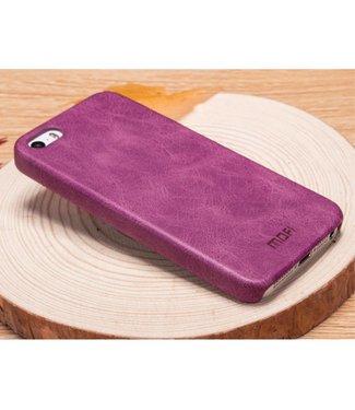 Mofi Mofi PU Leren Coating Hardcase iPhone 5(s)/SE - Paars