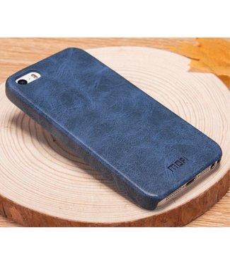 Mofi Mofi PU Leren Coating Hardcase iPhone 5(s)/SE - Blauw