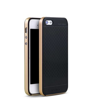 iPaky iPaky PC/TPU Backcase iPhone 5(s)/SE - Goud