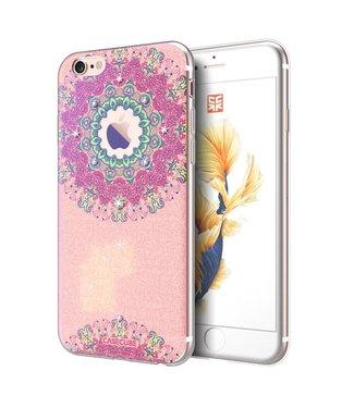 Casecube Casecube Bling TPU Softcase iPhone 6(s) - Glitterende Bloemen