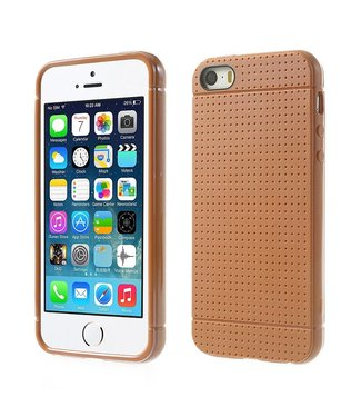Mesh Mesh TPU Softcase iPhone 5(s)/SE 2016 - Oranje/Bruin