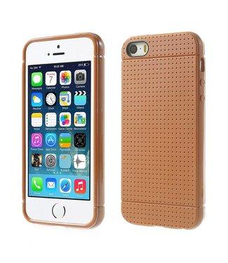 Mesh Mesh TPU Softcase iPhone 5(s)/SE - Oranje/Bruin