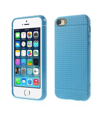 Mesh Mesh TPU Softcase iPhone 5(s)/SE - Blauw