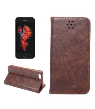 Crazy Horse Crazy Horses PU Leren Wallet iPhone 5(s)/SE - Coffee Bruin