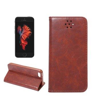 Crazy Horse Crazy Horses PU Leren Wallet iPhone 5(s)/SE - Bruin