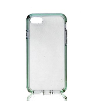 ZWC TPU Hybride Softcase iPhone 7/8/SE 2020 - Groen Transparant
