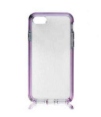 ZWC TPU Hybride Softcase iPhone 7/8/SE 2020 - Paars Transparant