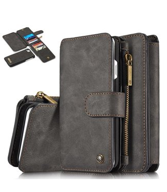 Caseme Caseme Leren Flip Wallet iPhone 7/8 - Zwart