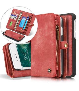 Caseme Leren Wallet iPhone 7/8/SE 2020 - Roze/Rood