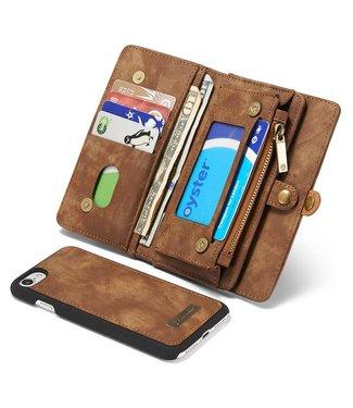 Caseme Caseme Leren Wallet iPhone 7/8 - Kaki Bruin