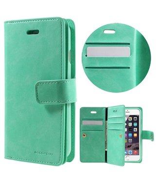 Goospery Goospery Luxe PU Leren Wallet iPhone 7/8 - Cyaan