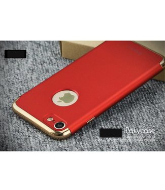 iPaky iPaky 3-in-1 Hardcase iPhone 7/8 - Rood/Goud