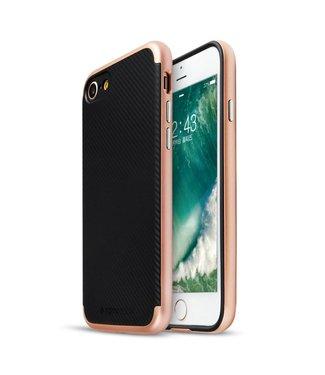 Totu Totu PC/TPU Carbon Backcase iPhone 7/8 - Rosé Goud
