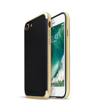 Totu PC/TPU Carbon Backcase iPhone 7/8/SE 2020 - Goud