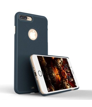 Loopee Loopee Geweven Hardcase iPhone 7/8 plus - Navy Blauw