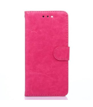 Crazy Horse Crazy Horses PU Leren Wallet iPhone 7/8 plus - Roze