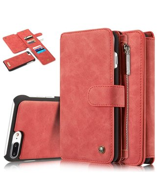 Caseme Caseme Leren Flip Wallet iPhone 7/8 plus - Rood
