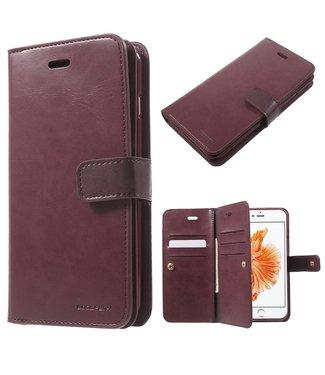 Goospery Goospery Luxe PU Leren Wallet iPhone 7/8 plus - Wijnrood