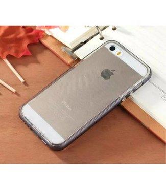 Enkay Enkay Aluminium/TPU Backcase iPhone 5(s)/SE 2016 - Antraciet Grijs