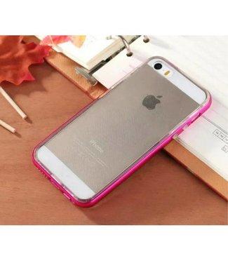 Enkay Enkay Aluminium/TPU Backcase iPhone 5(s)/SE 2016 - Donker Roze
