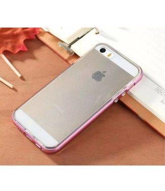 Enkay Enkay Aluminium/TPU Backcase iPhone 5(s)/SE 2016 - Lila Roze