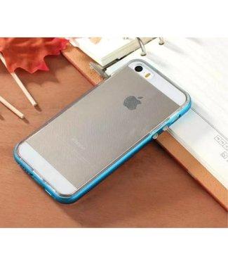 Enkay Enkay Aluminium/TPU Backcase iPhone 5(s)/SE 2016 - Blauw